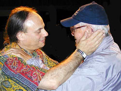David with George Roberts (Photo Joshua Brown ITA)